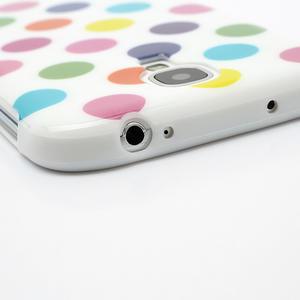 Gélové Puntík puzdro na Samsung Galaxy S4 i9500- bílofarebné - 5