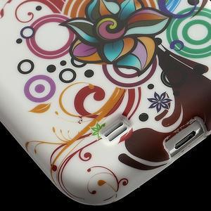 Gélové puzdro pro Samsung Galaxy S4 i9500- farebná kvetina - 5