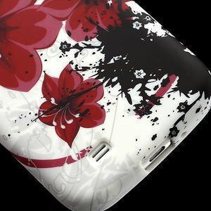Gelové pouzdro pro Samsung Galaxy S4 i9500- červený květ - 5
