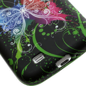 Gélové puzdro pro Samsung Galaxy S4 i9500- farebný motýl - 5