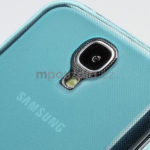 Gélové matné puzdro na Samsung Galaxy S4 i9500- modré - 5