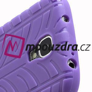 Gelové PNEU pouzdro pro Samsung Galaxy S4 i9500- fialové - 5