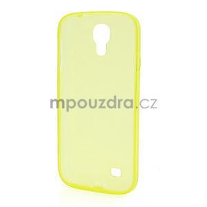 Gélové slim puzdro na Samsung Galaxy S4 i9500- žlté - 5