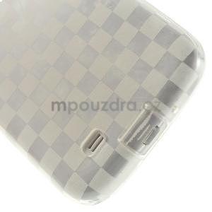 Gélové kosočvercové puzdro na Samsung Galaxy S4 i9500- Transparentní - 5