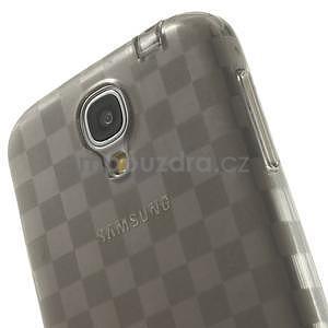 Gélové kosočvercové puzdro na Samsung Galaxy S4 i9500- šedé - 5