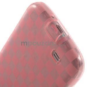 Gelpvé kosočvercové puzdro pre Samsung Galaxy S4 i9500- ružové - 5