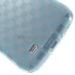 Gélové kosočvercové puzdro na Samsung Galaxy S4 i9500- modré - 5