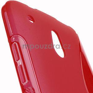 Gélové S-line puzdro pre HTC one Mini M4- červené - 5