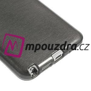 Gélové kartáčované puzdro pre Samsung Galaxy Note 3- čierné - 5
