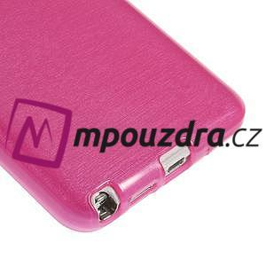 Gélové kartáčované puzdro na Samsung Galaxy Note 3 Neo- růžové - 5