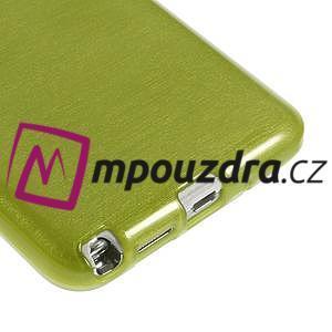 Gélové kartáčované puzdro na Samsung Galaxy Note 3- zelené - 5