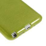 Gélové kartáčované puzdro na Samsung Galaxy Note 3- zelené - 5/5