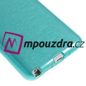 Gélové kartáčované puzdro pre Samsung Galaxy Note 3- modré - 5