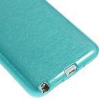 Gélové kartáčované puzdro pre Samsung Galaxy Note 3- modré - 5/5
