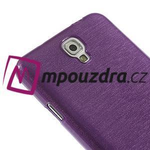 Gélové kartáčované puzdro na Samsung Galaxy Note 3- fialové - 5