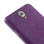 Gélové kartáčované puzdro na Samsung Galaxy Note 3- fialové - 5/5