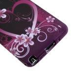 Gélové puzdro na Samsung Galaxy Note 3- srdce - 5/6