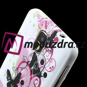 Gélové puzdro na Samsung Galaxy Note 3- květinka motýl - 5