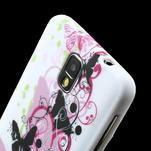 Gélové puzdro na Samsung Galaxy Note 3- květinka motýl - 5/6