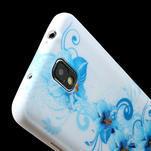 Gélové puzdro na Samsung Galaxy Note 3- modrá lilie - 5/6