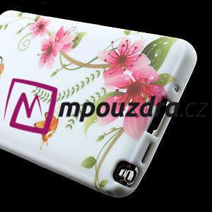 Gélové puzdro na Samsung Galaxy Note 3- červené květy - 5