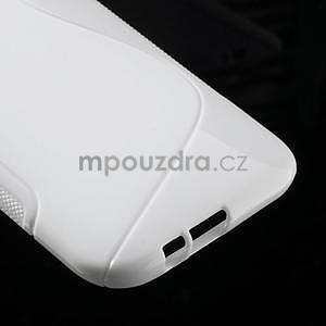 Gélové S-line puzdro pre HTC one M8- biele - 5