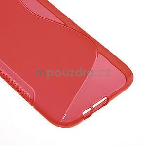Gélové S-line puzdro pre HTC one M8- červené - 5