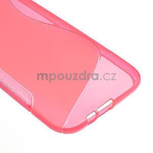 Gélové S-line puzdro pre HTC one M8- ružové - 5