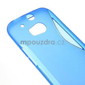 Gélové S-line puzdro pre HTC one M8- modré - 5