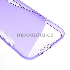Gélové S-line puzdro pre HTC one M8- fialové - 5