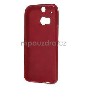 Gélové-PUNTÍKY puzdro pre HTC one M8- červené - 5
