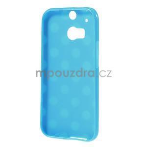 Gélové-PUNTÍKY puzdro pre HTC one M8- modré - 5