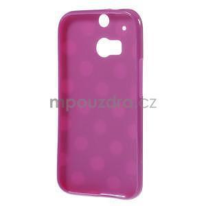 Gélové-PUNTÍKY puzdro pre HTC one M8- fialové - 5