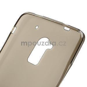 Gélové matné puzdro pre HTC one Max- šedá - 5