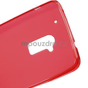 Gélové matné puzdro pre HTC one Max- červená - 5