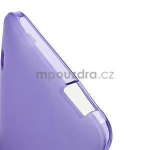 Gélové matné puzdro pre HTC one Max- fialové - 5