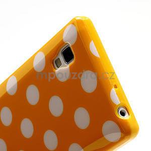Gélové PUNTÍK puzdro pre LG Optimus L9 P760- oranžové - 5