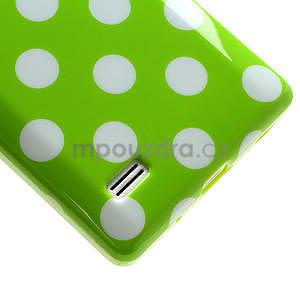 Gélové PUNTÍK puzdro pre LG Optimus L9 P760- zelené - 5