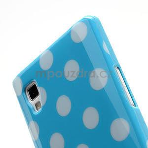 Gélové PUNTÍK puzdro pre LG Optimus L9 P760- modré - 5