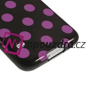 Gélové puntíkaté puzdro pre Samsung Galaxy S5- černofialové - 5