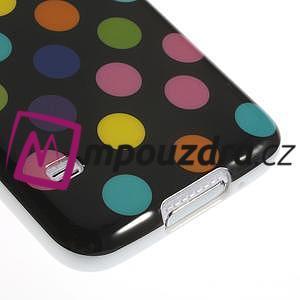 Gelové puntíkaté pouzdro na Samsung Galaxy S5- černobarevné - 5