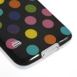 Gelové puntíkaté pouzdro na Samsung Galaxy S5- černobarevné - 5/5