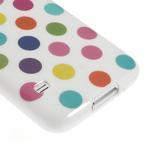 Gélové puntíkaté puzdro pre Samsung Galaxy S5- bílofarebné - 5/5