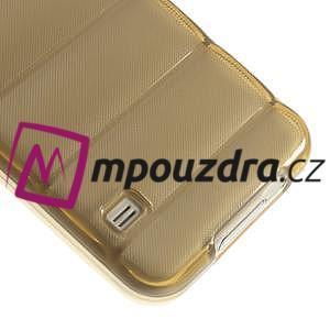 Gélové vesta puzdro pre Samsung Galaxy S5- zlaté - 5