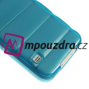 Gélové vesta puzdro pre Samsung Galaxy S5- modré - 5