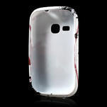Gélové puzdro pre Samsung Galaxy Young S6310- červený kvet - 5/5