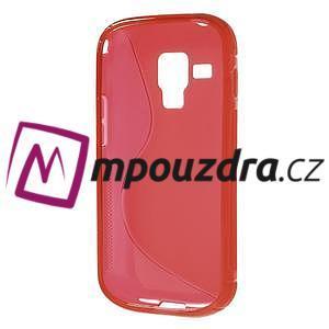 Gélové S-line puzdro pre Samsung Trend plus, S duos- červené - 5