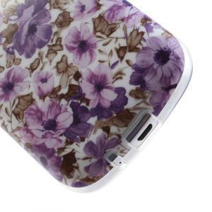 Gélové puzdro pre Samsung Galaxy Trend, Duos- fialové kvety - 5