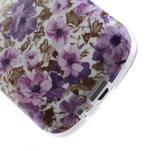Gélové puzdro pre Samsung Galaxy Trend, Duos- fialové kvety - 5/6