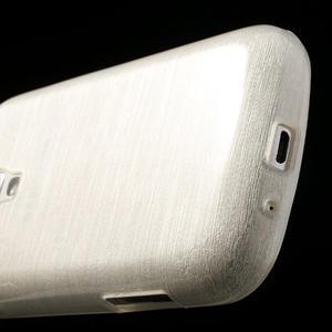 Kartáčované puzdro na Samsung Galaxy Trend, Duos- biele - 5